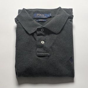 Polo Ralph Lauren Custom Fit Polo Large Gray